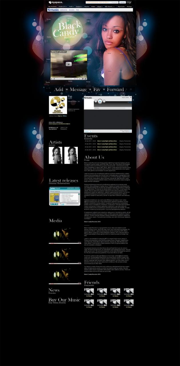 Myspace Layout