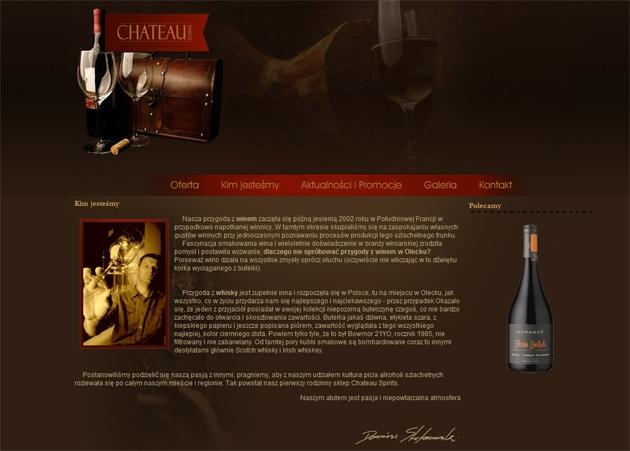 Chateau Spirits Strona WWW