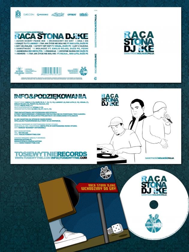 """Raca/Stona/DJ Ike """"Samotnośc, Wolność, Pasja"""" Cover"""